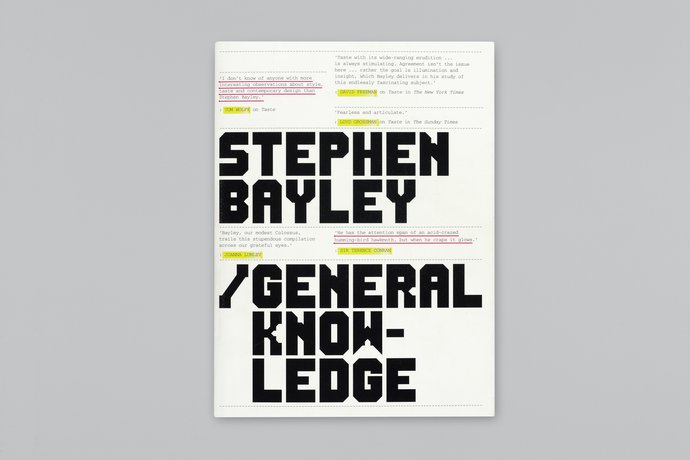 Booth-Clibborn Editions – Stephen Bayley: General Knowledge, 2000 (Publication), image 1