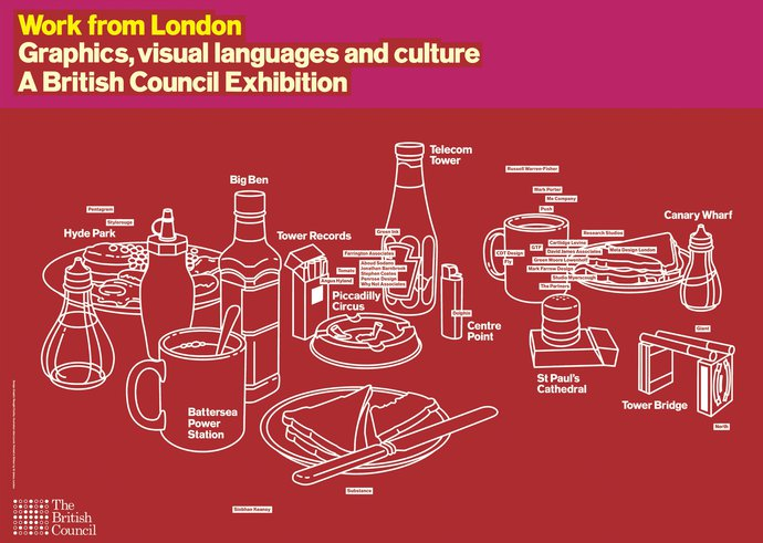 British Council – Work from London, 1996 (Poster), image 1