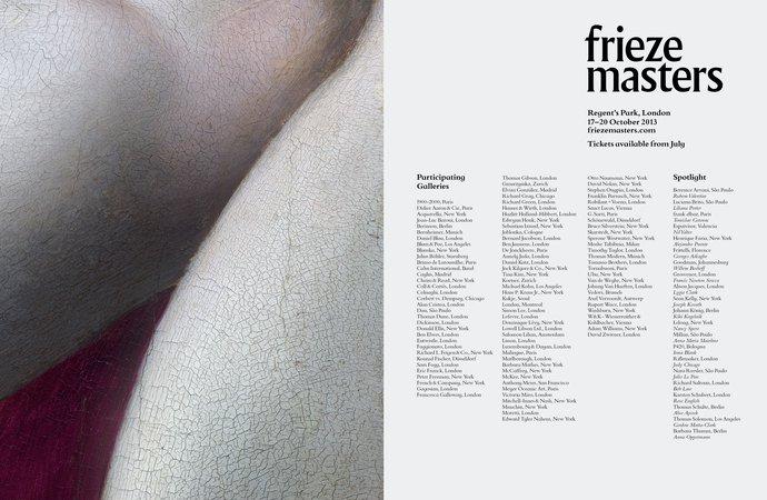 Frieze Masters – 2013 campaign, image 4
