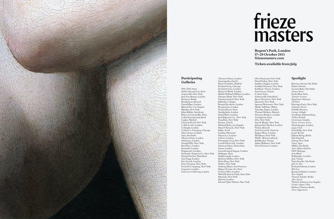 Frieze Masters – 2013 campaign, image 1