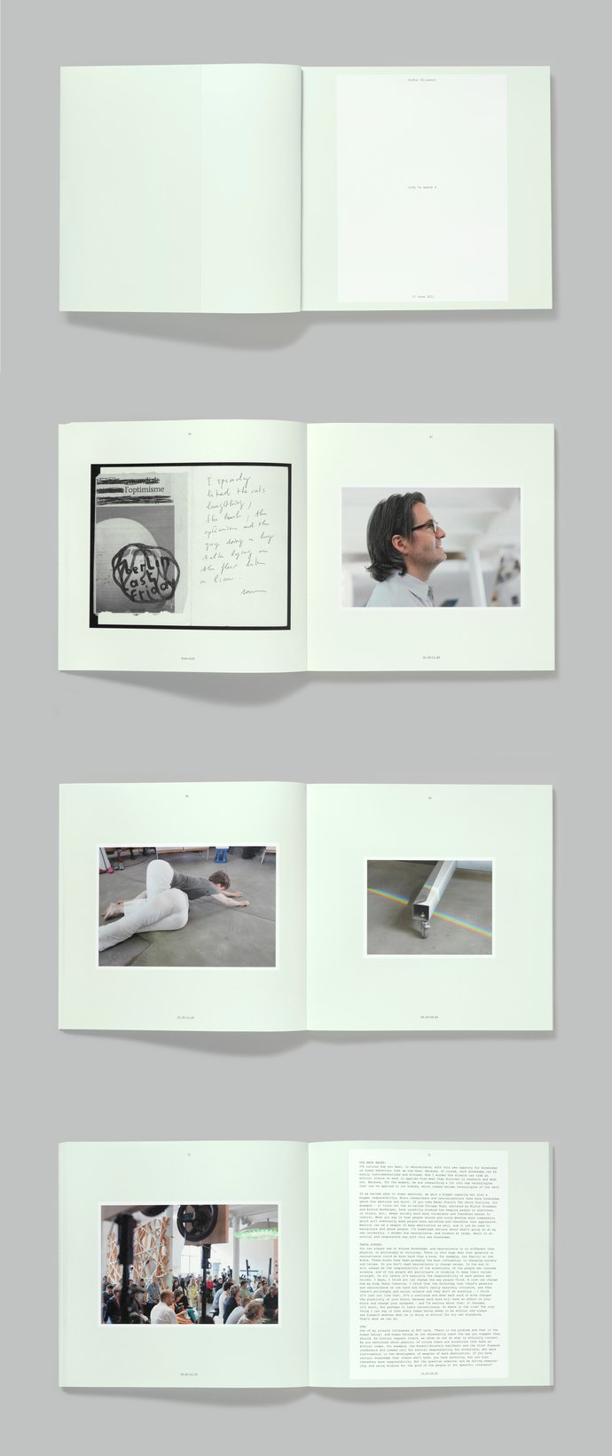 Olafur Eliasson – Life is Space 4 (with Peter Saville), 2012 (Publication), image 2