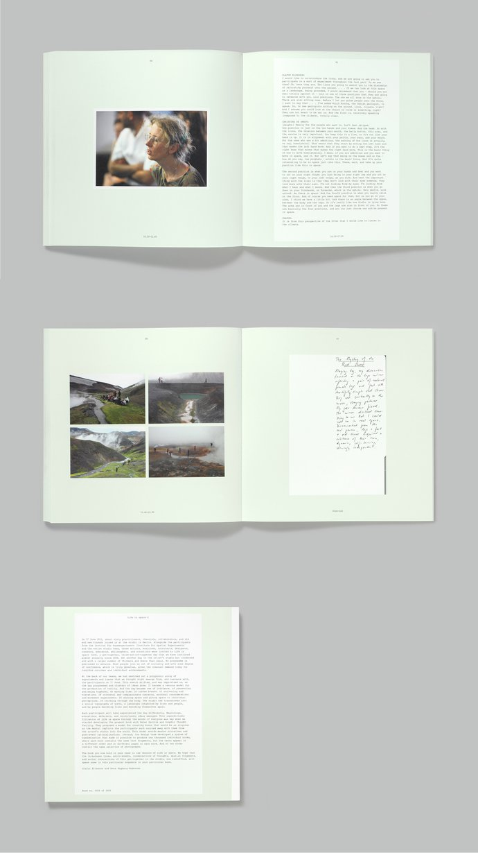 Olafur Eliasson – Life is Space 4 (with Peter Saville), 2012 (Publication), image 4