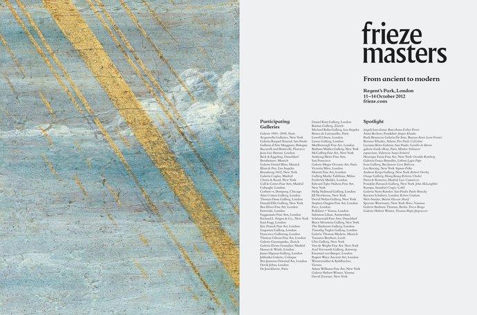 Frieze Masters – 2012 campaign, image 4