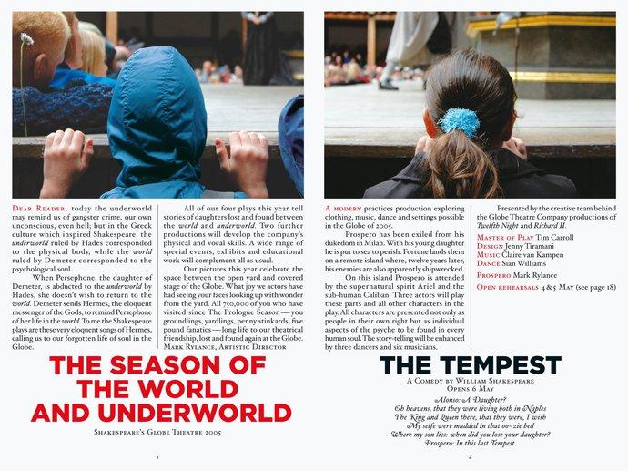 Shakespeare's Globe Theatre – 2005 season, 2004 (Campaign), image 3